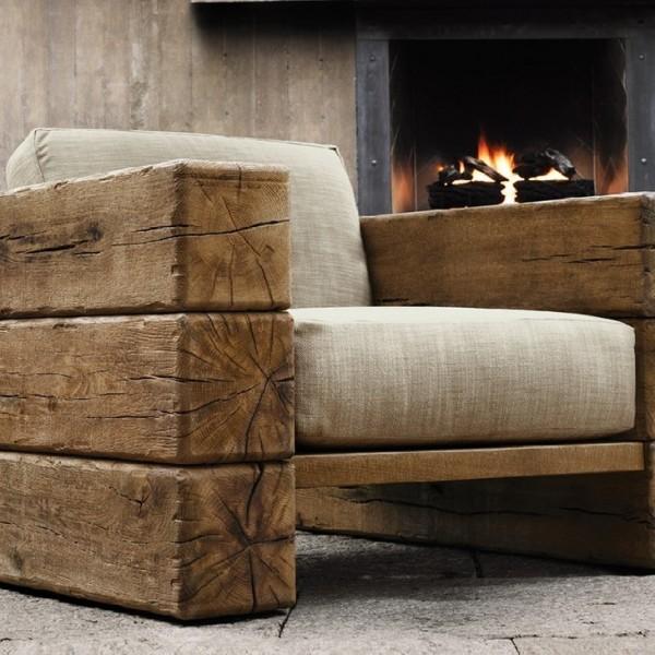 Угловой диван из бруса